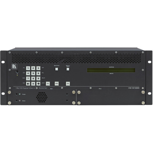 Kramer 2x2 to 16x16 Modular 4K60 4:2:0 Multi-Format Managed Digital Matrix Switcher