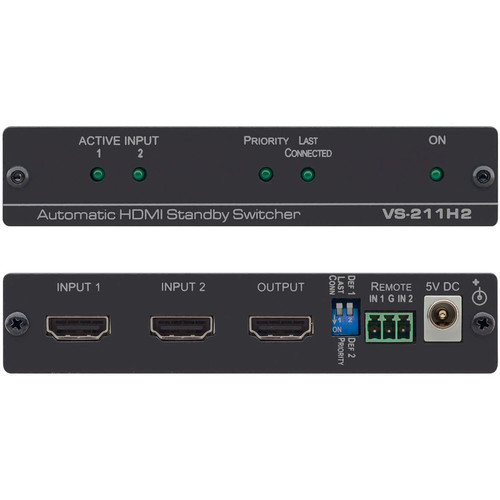 Kramer 2x1 Automatic 4K UHD HDMI Standby Switcher