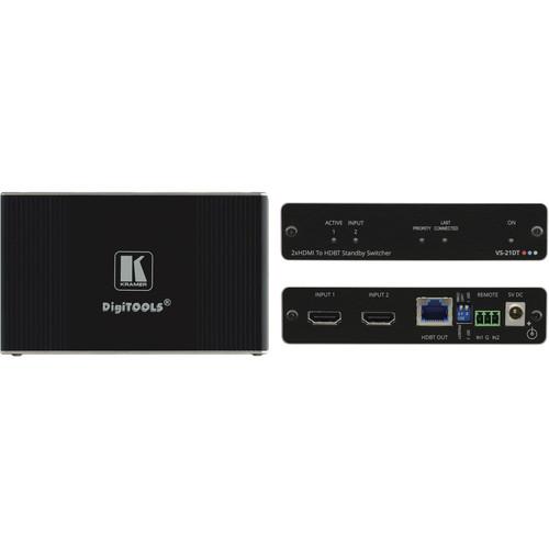 Kramer 2x1 4K60 4:2:0 HDCP 2.2 HDMI Auto Switcher over HDBaseT