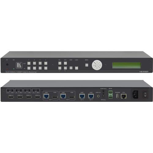 Kramer 4x4 4K60 4:2:0 HDMI/HDBaseT Extended-Reach PoE Matrix Switcher