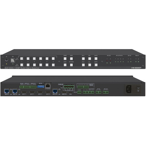 Kramer All-in-One Presentation System with 6x2 4K60 4:2:0 HDMI/HDBaseT Matrix Switching, Control Gateway