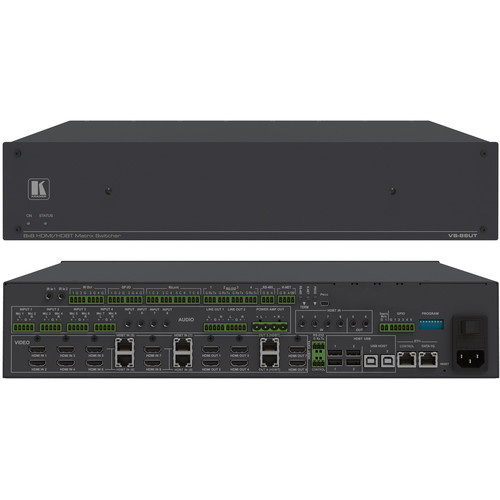 Kramer All-in-One Presentation System with 8x4 4K60 4:2:0 HDMI/HDBaseT 2.0 Matrix Switching Controller with PoE