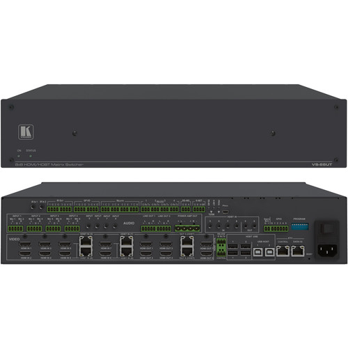 Kramer All-in-One Presentation System with 8x8 4K60 4:2:0 HDMI/HDBaseT 2.0 Matrix Switching Controller, PoE