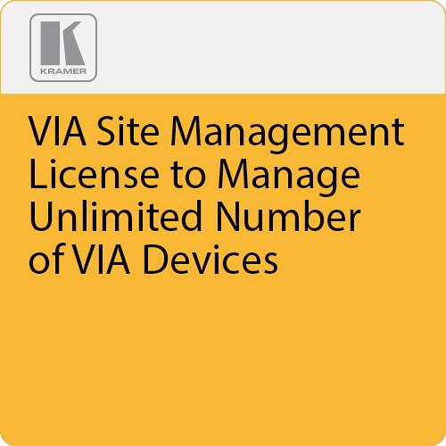 Kramer VIA Site Management License to Manage Unlimited Number of VIA Devices