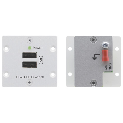 Kramer Wall Plate Insert - Double USB Charger (Grey)