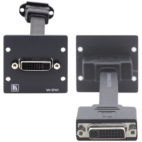 Kramer W-DVI Dual-Slot Wall Plate Insert with Female DVI-I (White)