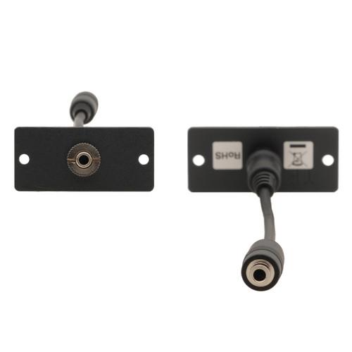 Kramer 3.5mm Female-to-Female Stereo Audio Wall Plate Insert (Gray)