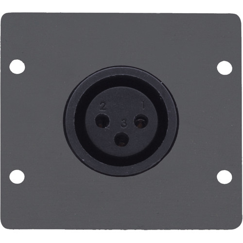 Kramer Three-Pin XLR Female Wall Plate Insert (Gray)