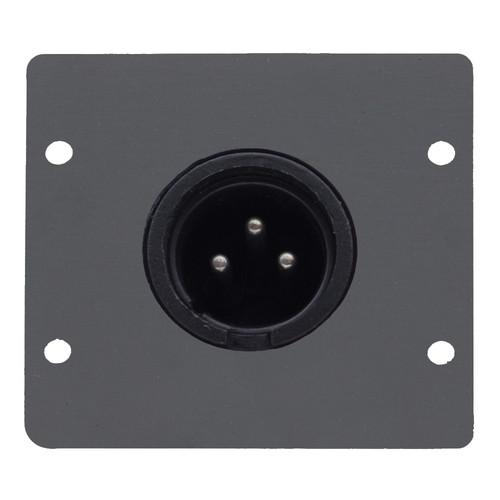 Kramer Three-Pin XLR Male Wall Plate Insert (Gray)
