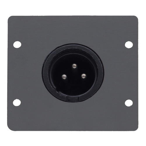 Kramer Three-Pin XLR Male Wall Plate Insert (Gray)
