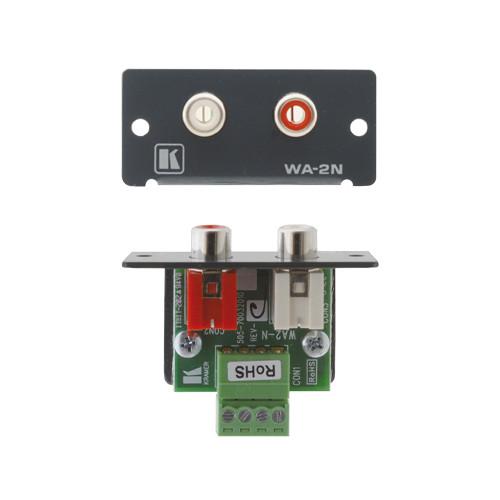 Kramer WA-2N Dual RCA Stereo Audio Wall Plate Insert (Gray)