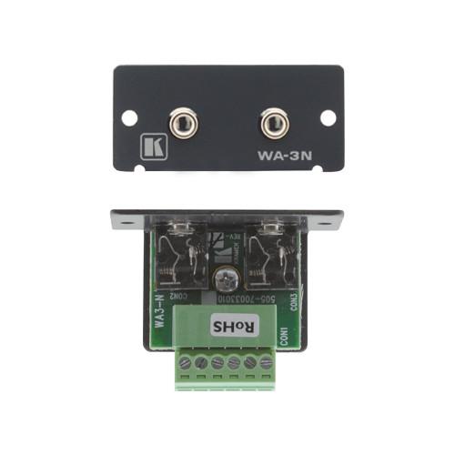 Kramer WA-3N Dual 3.5mm Stereo Audio Wall Plate Insert (Gray)
