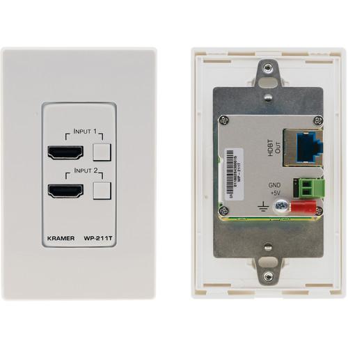 Kramer 4K60 4:2:0 2 HDMI over HDBaseT Wall-Plate Auto Switcher (White/Black)