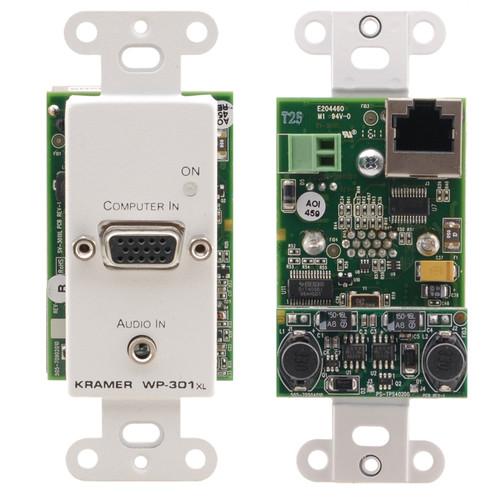 Kramer 15-Pin VGA and 3.5mm Stereo 1-Gang Active Wall Plate Transmitter (White)