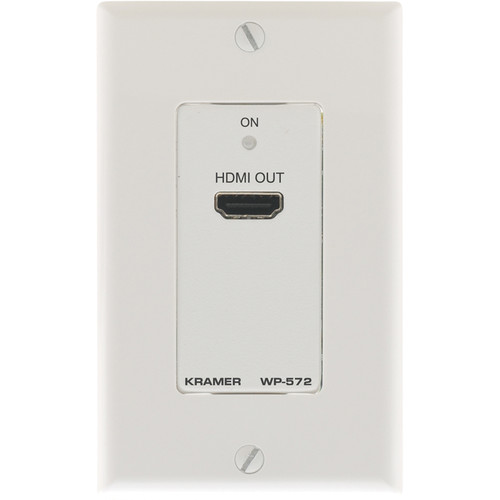 Kramer WP-572 Active 1-Gang Wall Plate HDMI over Twisted Pair Receiver (White)