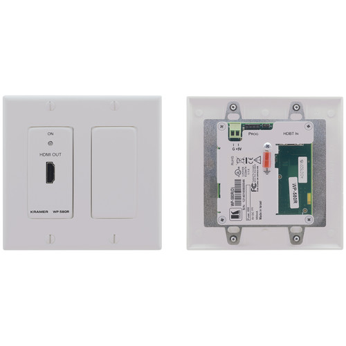 Kramer HDMI over HDBaseT Twisted Pair Wall Plate Receiver (Decora, White)