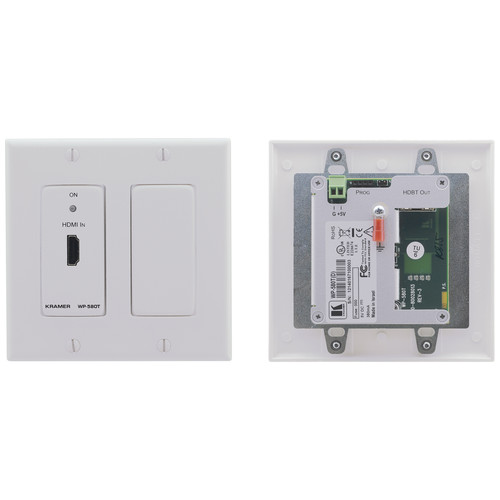 Kramer HDMI over HDBaseT Twisted Pair Wall Plate Transmitter (Decora, White)