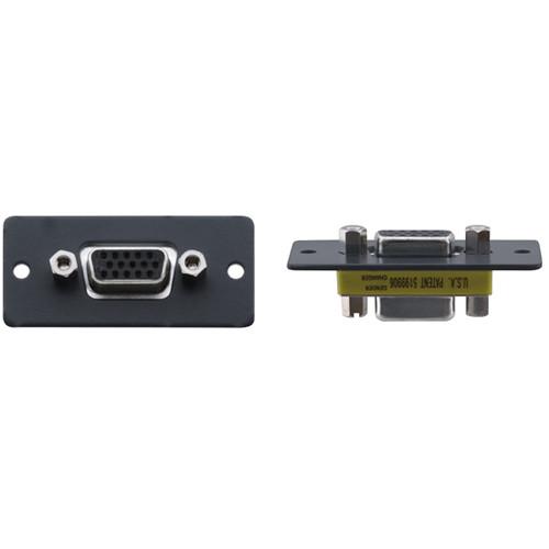 Kramer 15-Pin Sub-D HD Female to 15-Pin Sub-D HD Female Wall Plate Insert (Gray)
