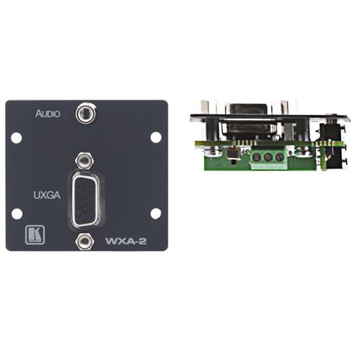 Kramer 15-Pin VGA & 3.5mm Plug to Terminal Block Wall Plate Insert (Gray)