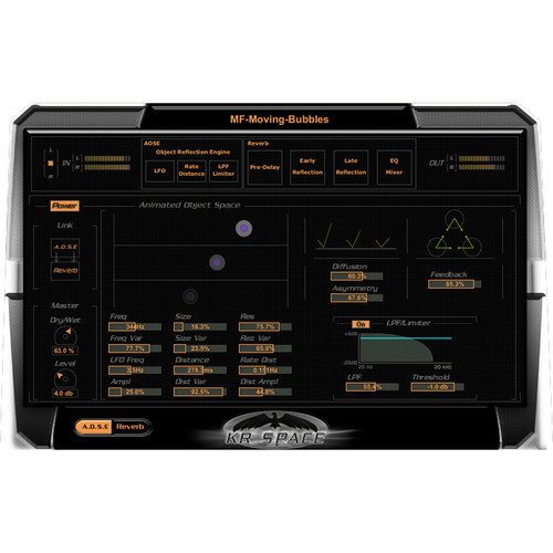 KResearch KR-Space - Modular Reverb/Echo Based Multi Effects Plug-In (Download)