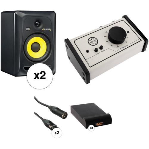 krk krk rokit 6 g3 studio monitors with monitor controller kit. Black Bedroom Furniture Sets. Home Design Ideas
