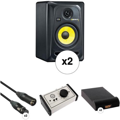 "KRK Rokit 5"" Studio Monitors and Monitor Controller Kit (Black)"