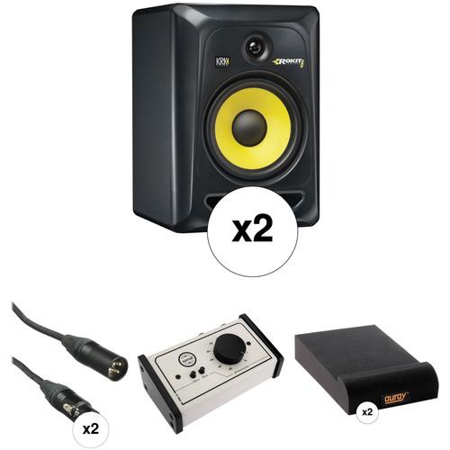 "KRK Rokit 8"" Studio Monitors and Monitor Controller Kit (Black)"