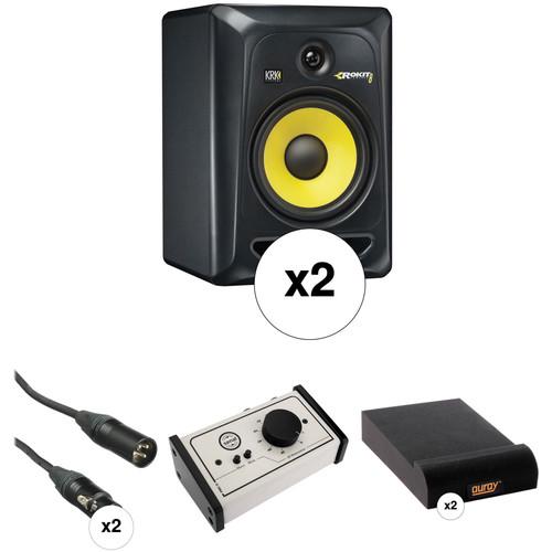 "KRK Rokit 8"" Studio Monitors and Monitor Controller Kit (Black)"