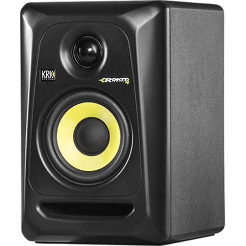 "KRK Rokit 4 G3 30W 4"" Two-Way Active Studio Monitor (Single, Black)"