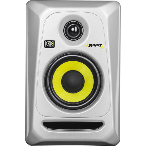 "KRK Rokit 4 G3 30W 4"" Two-Way Active Studio Monitor (Single, Silver)"
