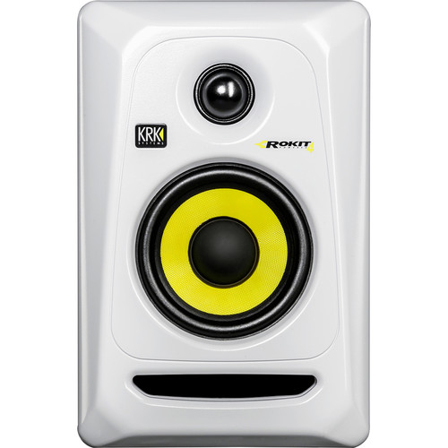"KRK Rokit 4 G3 30W 4"" Two-Way Active Studio Monitor (Single, White)"