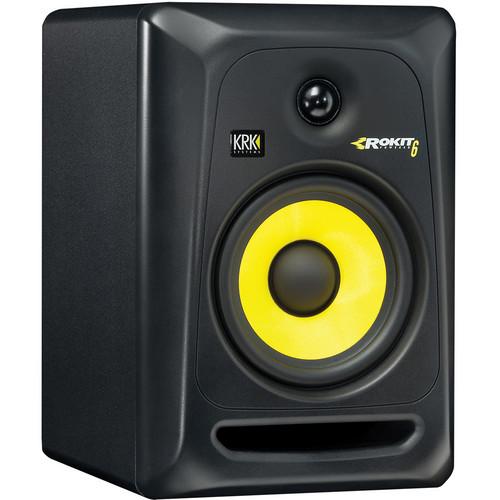 "KRK ROKIT 6 G3 - 73W 6"" Two-Way Active Studio Monitor (Single, Black)"