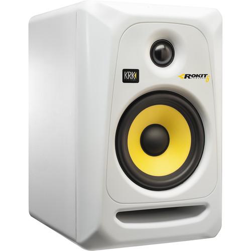 "KRK ROKIT 6 G3 - 73W 6"" Two-Way Active Studio Monitor (Single, White)"