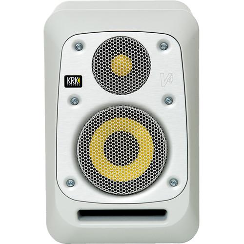 """KRK V4 4"""" Powered Studio Monitor (Matt White Noise)"""