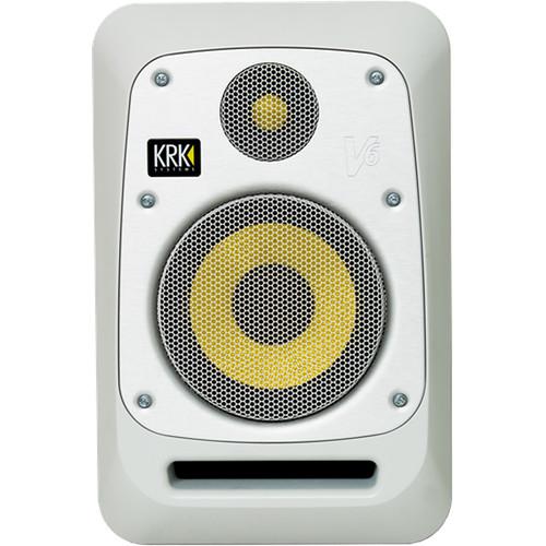 """KRK V6 6.5"""" Powered Studio Monitor (Matt White Noise)"""