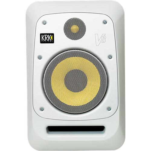 """KRK V8 8"""" Powered Studio Monitor (Matt White Noise)"""