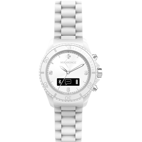Kronoz ZeClock Analog Smartwatch (White)