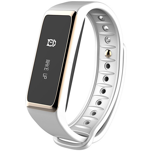 Kronoz ZeFit2 Activity Tracker with Smart Notifications (White/Gold)