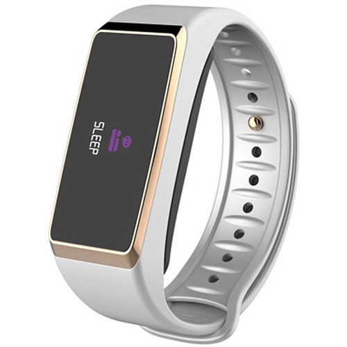 Kronoz ZeFit2 Pulse Activity Tracker with Heart-Rate Monitor (White/Gold)