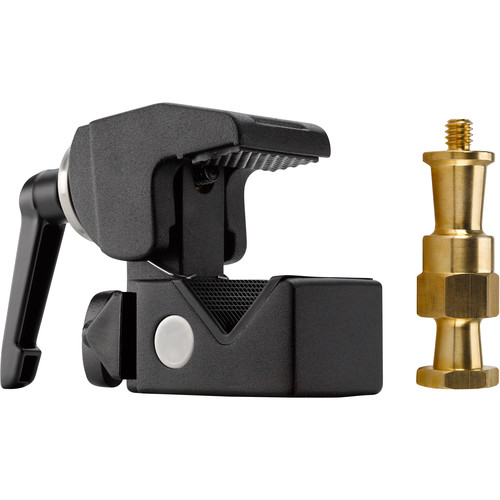 Kupo Convi Clamp with Adjustable Handle and Hex Stud (Black)
