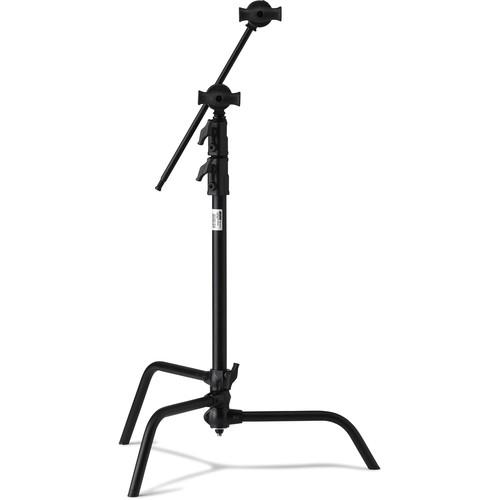 """Kupo Master C-Stand with 20"""" Riser and Sliding Leg Kit (Black, 6.5')"""