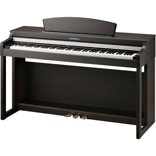 Kurzweil M230 88-Key Digital Piano with Spinet-Style Cabinet (White)