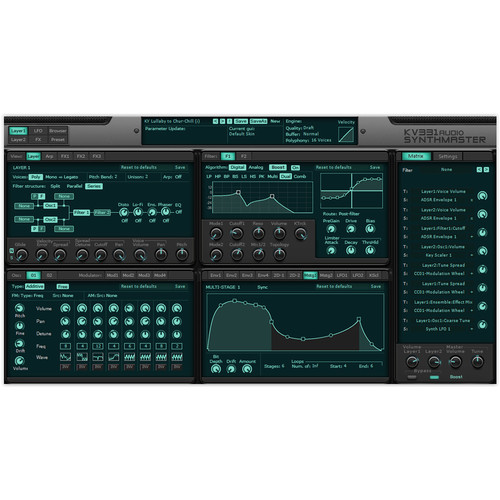 KV331 Audio SynthMaster 2.9 - Semi-Modular Software Synthesizer Plug-In (Educational, Download)
