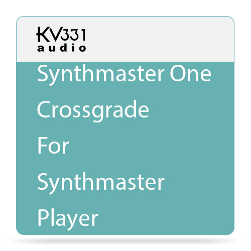 KV331 Audio SynthMaster One - Wavetable Synthesizer Plug-In (Crossgrade from SynthMaster Player, Download)