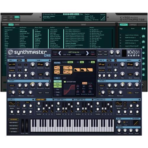 KV331 Audio SynthMaster 1 + 2 Bundle Upgrade - Software Suite with SynthMaster One & SynthMaster 2.9 (Download)