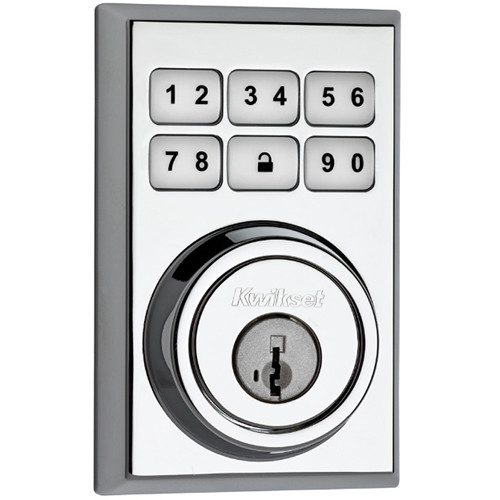 Kwikset Contemporary SmartCode Deadbolt Lock with Z-Wave (Polished Chrome)