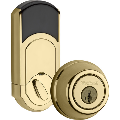 Kwikset Traditional Signature Series Deadbolt with Z-Wave (Brass)