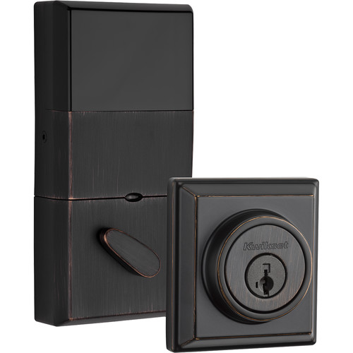 Kwikset Contemporary Signature Series Deadbolt with Z-Wave (Bronze)