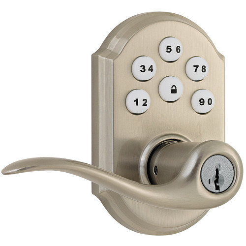 Kwikset SmartCode Lever Door Lock (Satin Nickel Finish)