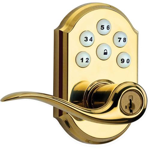 Kwikset SmartCode Lever Door Lock (Polished Brass Finish)